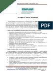 Nota de Prensa - Asambleas de FAPAR Junio 2011