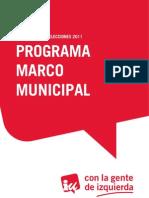 Programa Marco Municipal 2011