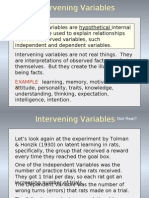 Intervenning Variable
