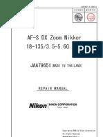 Nikon Af-s Dx Zoom Nikkor 18-135 3.5-5.6g Ed Service [ET]