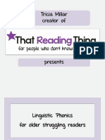That Reading Thing - Linguistic Phonics for Older Struggling Readers