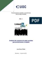 Analisis Redes Sociales Profesionales