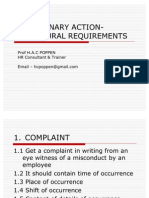 Disciplinary Action-procedural Requirements