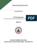 PhD Brochure 2010
