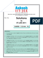 Solution for Iit Jee 2011 Paper II