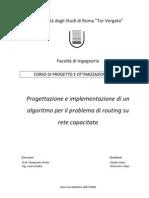 Progettazione e implementazione di un algoritmo per il problema di routing su rete capacitata