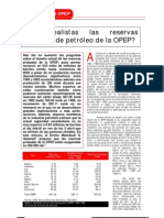 ¿Son realistas las reservas probadas de la OPEP?