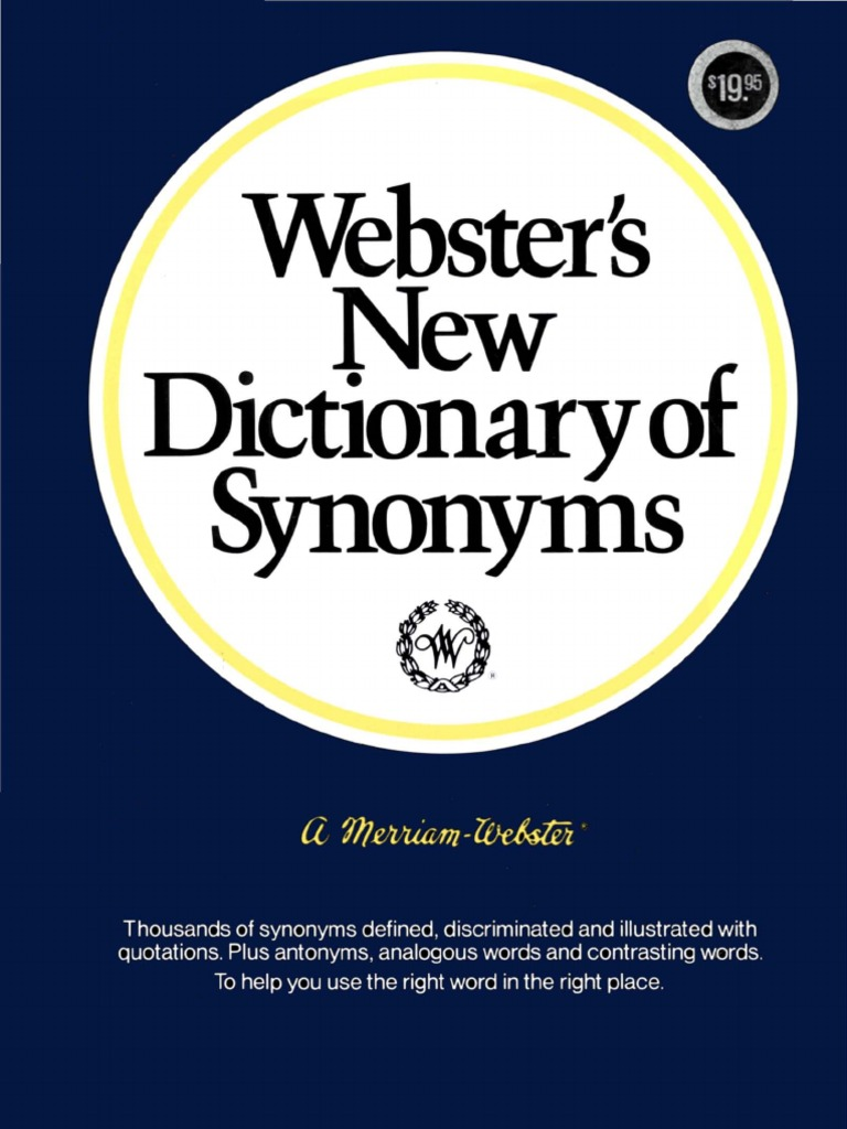 Websters new dictionary of synonyms 1984 malvernweather Image collections