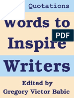 Words to Inspire Writers
