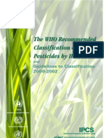Who Classification of Pesticides by Hazard