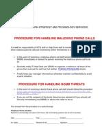Malicious Calls and Bomb Threats Procedure
