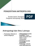 Antropologi Antropologi Budaya, Dan Ilmu-Ilmu Sosial