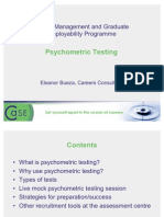2007 CMGE Psycho Metric Testing