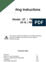 Heatmiser PRT Manualt