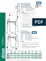 Universal (Adult/Junior) Deluxe Folding Walker, Two Button