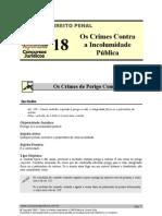 PEN 18 - Os Crimes Contra a Incolumidade Pública