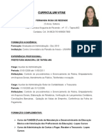 Curriculo Fernanda Rosa de Rezende