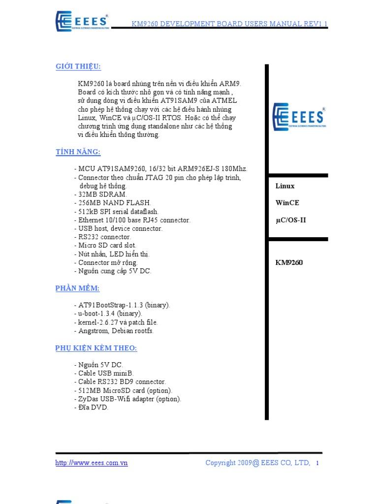KM9260 Users Manual V1 1