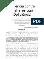 Relatório sobre Violencia contra Mulheres com Deficiencia