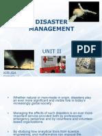 Disaster Management - II