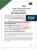CET 2010 Analysis