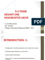 Conduite a Tenir Devant Une Pancreatite Aigue - 2011