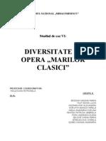 Divers It Ate in Opera Marilor Clasici