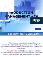 Production Management - IV