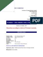 MSDS Ferric Chloride