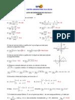 Lista de Calc1 - Com Respostas