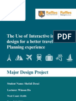 The use of interactive information design for a better travel planning experience
