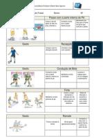 Ficha de auto- avaliação sumativa  para os alunos - futsal