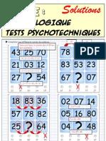 Logique - Test Psycho Techniques - Solutions