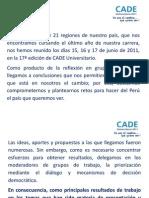 CADE 2011 - CONCLUSIONES FERREYROS