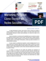 Marketing Personal en Redes Sociales