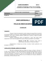 Apostila 6 - Direito rial II - Cheque.
