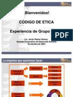 Codigo Etica Javier Palma