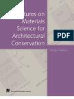 Torraca, G. Materials Sciencie Architectural Conservation. 2009