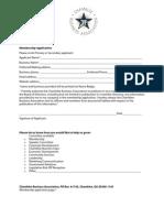 CBA Membership Application 2010