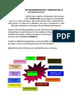 1.2.2metodologias y Tecnicas de Investigacion de La Antropologia