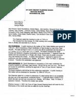 Cape Vincent Planning  Board Minutes