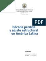 Década perdida y ajuste estructural - Trabajo I