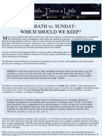 Sabbath vs Sunday - God's Holy Day
