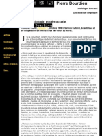 Pierre Bourdieu - Sociologie et démocratie - octobre 1996 (20110618)