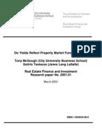 Do Yields Reflect Property Market Fundamentals TM ST Mar 2 [1]