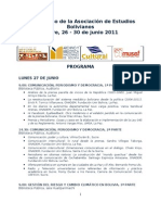 Program a6º Congreso AEB 2011