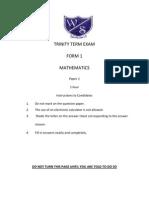 CXC Mathematics_Form1_Term3