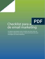 Checklist Para Acoes de Email Marketing