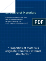 estructura de los minerales.