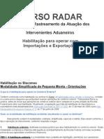 Curso Radar Da Receita Federal Habilitacao Para Importar e Exportar